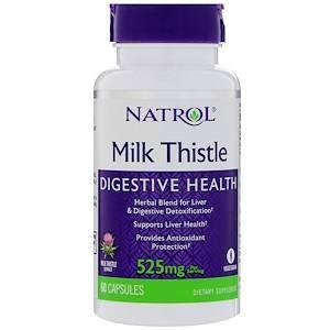 Розторопша, 525 мг, 60 капсул, Natrol, фото 2