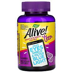 Вітаміни для дівчат підлітків 50 желеек Alive! Teen Multi for Her nature's Way