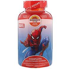 Компекс мультивітамінів в желейках, Людина павук, 180 шт, Sundown Naturals Kids