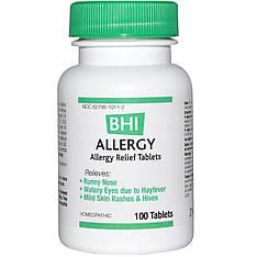 Засіб від алергії, 100 таблеток MediNatura, BHI