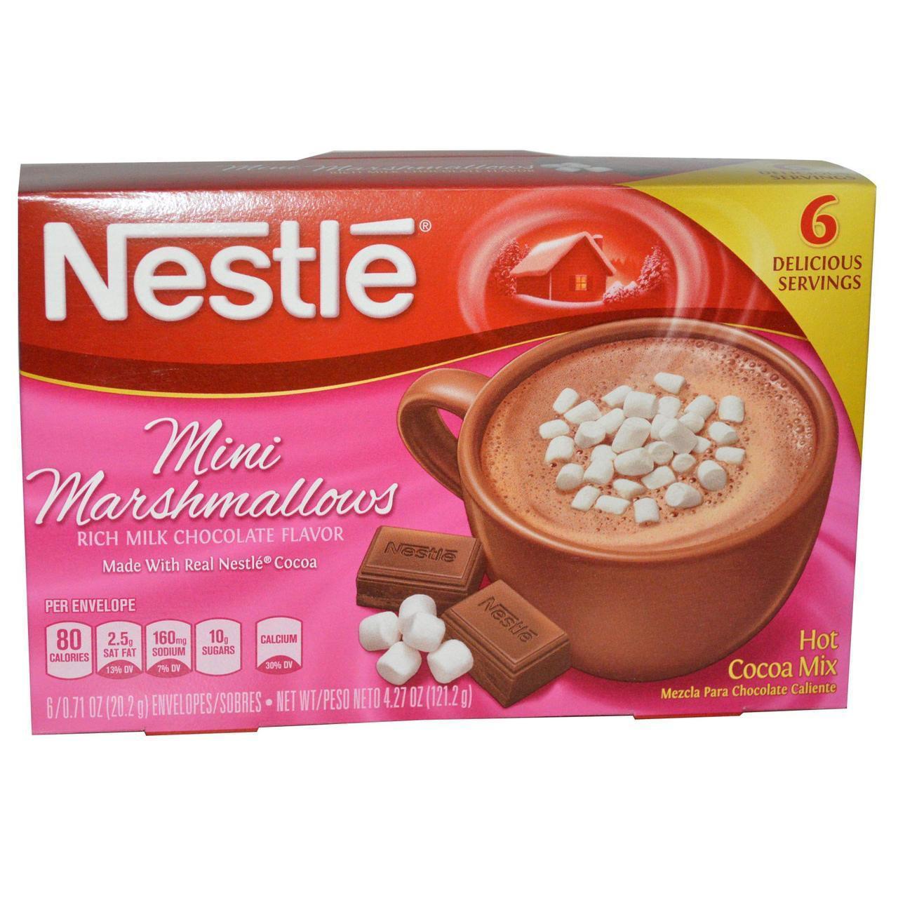 Смесь для приготовления горячего какао  с зефиром маршмелоу 6 пакетиков, (20,2 г) Nestle