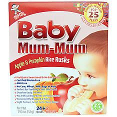 Рисові галети з яблуком і гарбузом, 24 сухарика, 50 г Hot Kid, Baby Мама-Мама