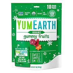 Органічні фруктові мармеладкі: персик, стигла вишня, полуниця, 10 упаковок по 19,8 м, YumEarth