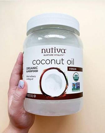 Кокосовое масло первого отжима, 1,6 л Nutiva, фото 2