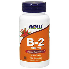 Витамин B2, 100 мг, 100 капсул Now Foods