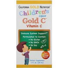 Жидкий витамин С для детей, со вкусом апельсина 118 мл California Gold Nutrition