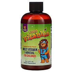 Рідкі вітаміни для дітей, без спирту, зі смаком апельсина і манго, 237 мл, Vitables