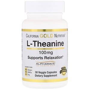 L-теанин, AlphaWave, способствует расслаблению, успокоению и концентрации, 100 мг, California Gold Nutrition, фото 2