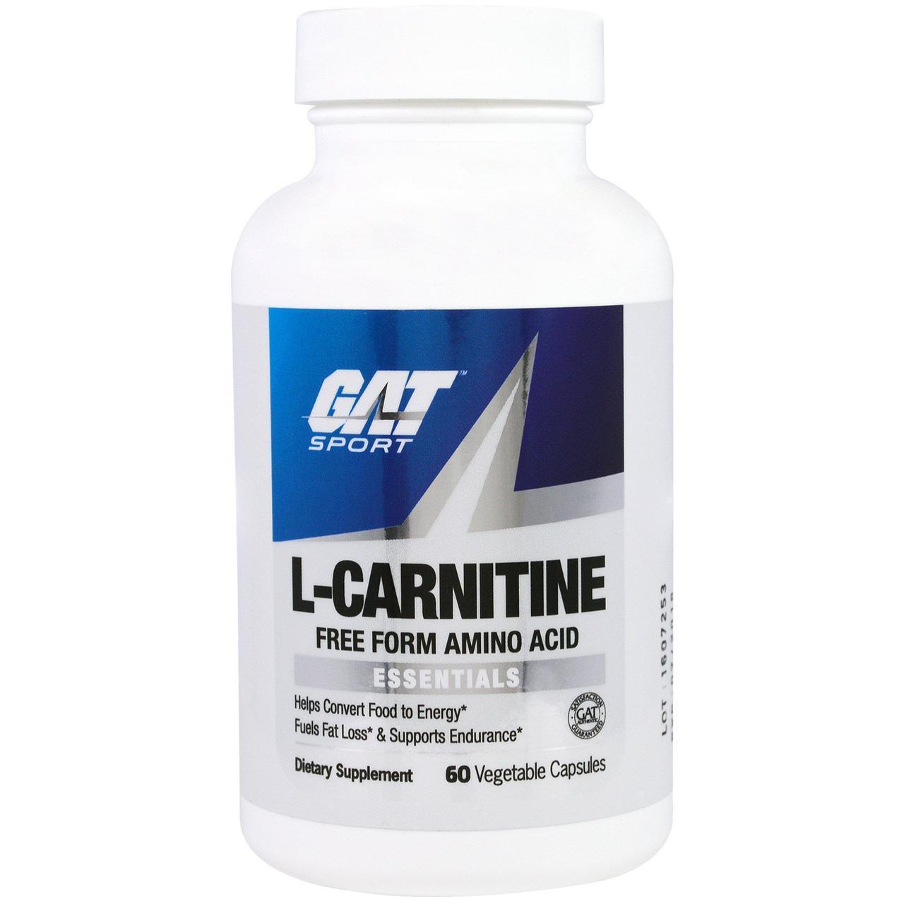 L-карнитин, 60 капсул в растительной оболочке GAT