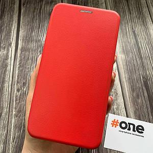 Чехол книга для Meizu M6 Note с эко кожи с подставкой магнитом книжка на телефон мейзу м6 нот красная STN