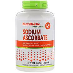 Аскорбат натрия, Витамин C буферизованный (порошок) 227 г, NutriBiotic