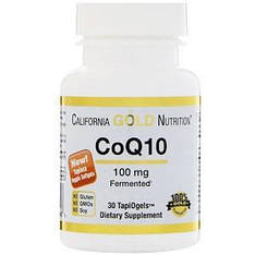 Коензим Q10, 100 мг, 30 вегетаріанських капсул California Gold Nutrition