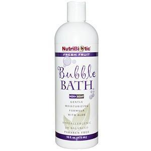 Пена для ванны, Без мыла, Свежие фрукты (473 мл) NutriBiotic
