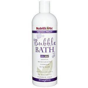 Пена для ванны, Без мыла, Свежие фрукты (473 мл) NutriBiotic, фото 2