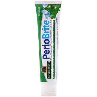 Periobrite  Природная зубная паста, Прохладная мята (113.4г) Nature's Answer, фото 2