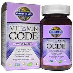 Пренатальные витамины для беременных из сырых цельных продуктов, Prenatal, 90 капсул, Garden of Life