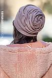 Шапка троянда драпірована з отвором для волосся пильна троянда, фото 6