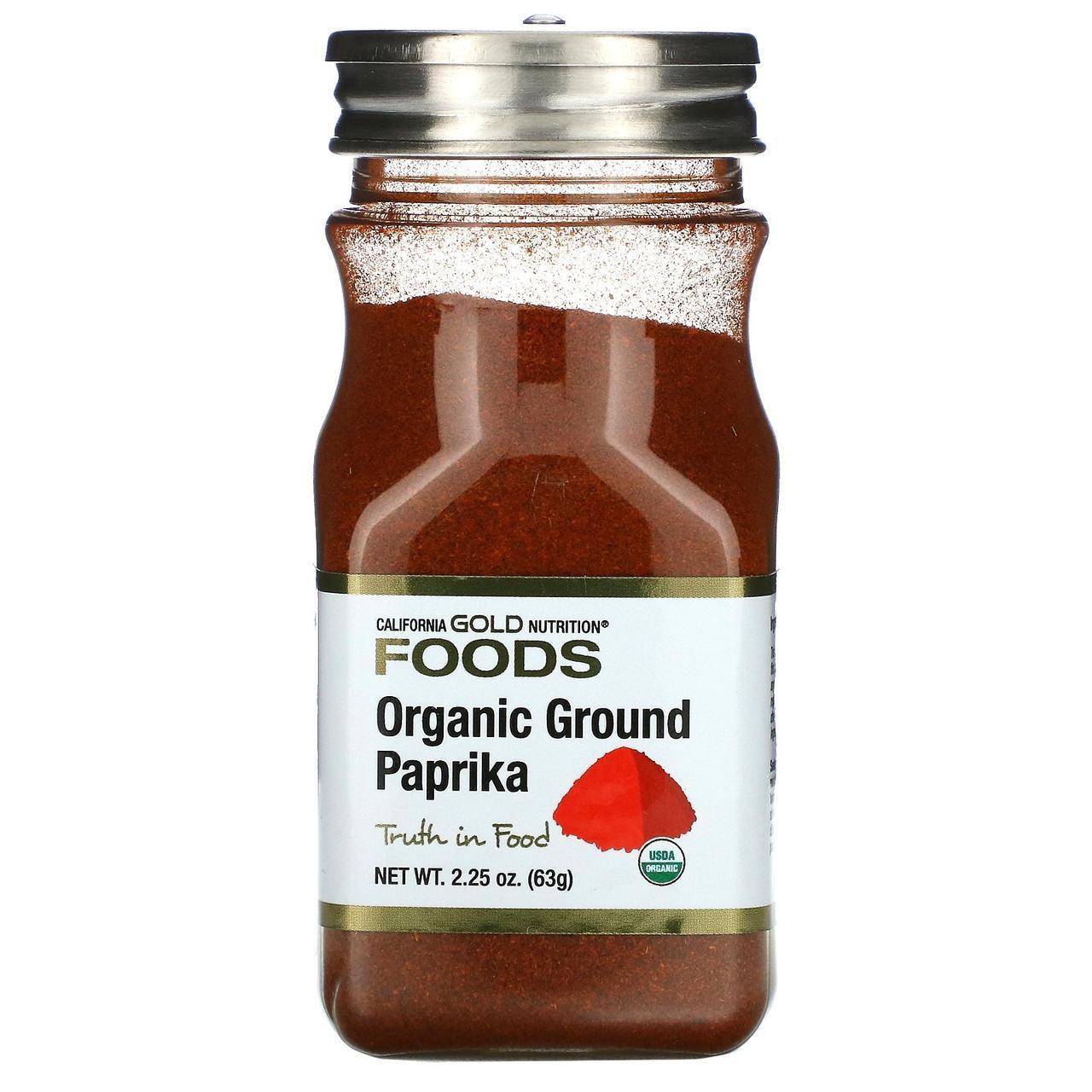 Органічна мелена паприка, 63 г California Gold Nutrition