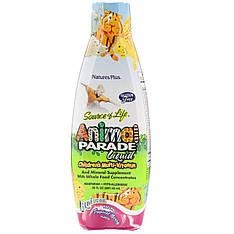 Рідкі вітаміни для дітей від Animal Parade, смак тропічних ягід, 887.10 мл, nature's Plus