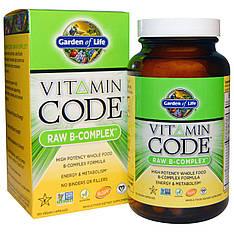 Комплекс витаминов группы В на основе цельных (сырых) продуктов, 120 веганских капсул Garden of Life