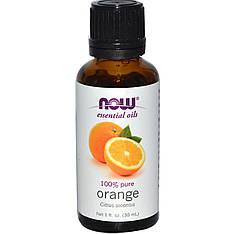 Ефірні масла, апельсин, 30 мл Now Foods
