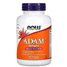 Мультивитаминный комплекс для мужчин ADAM, 90 мягких капсул Now Foods