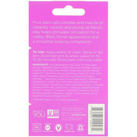 Маска для лица, маруловое масло и фиолетовая глина, Мгновенный лифтинг(8 г) Andalou Naturals, фото 2