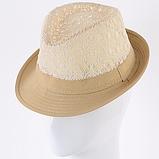 Шляпа кружевная челентанка для девочек, фото 3