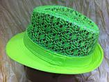 Шляпа кружевная челентанка для девочек, фото 6