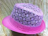 Шляпа кружевная челентанка для девочек, фото 7