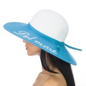 Жіноча літнє двоколірна капелюх з полями модельованими