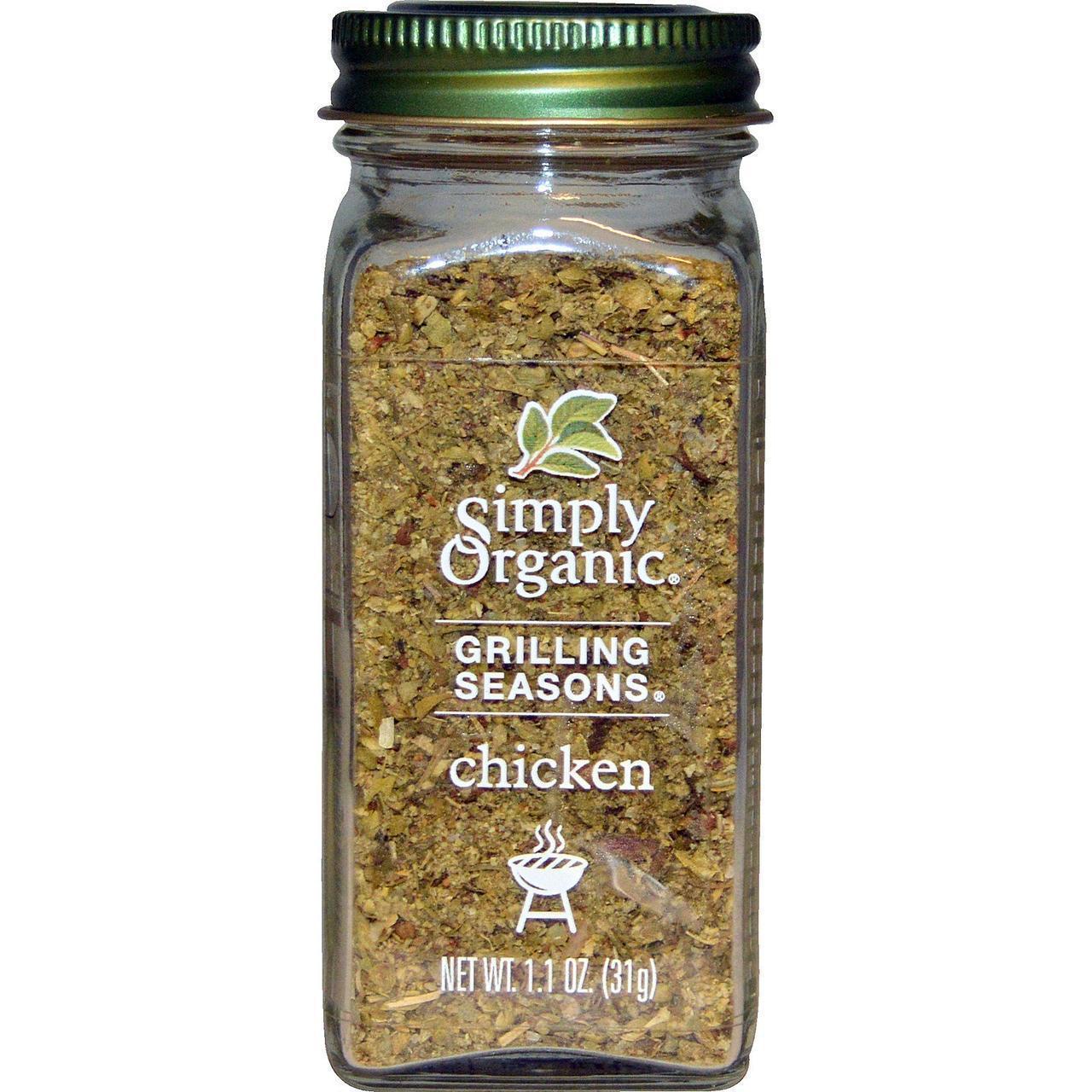 Приправа для гриля, курица, органическая (31 г) Simply Organic