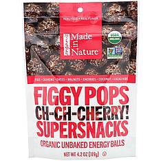 Органічні инжирные снеки 119 грам, Made in Nature Вишня