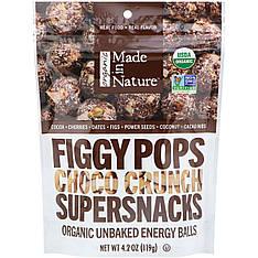 Органічні инжирные снеки 119 грам, Made in Nature Шоколад