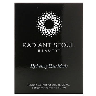 Зволожуюча тканинна маска, 5 шт. по 25 мл, Radiant Seoul, фото 2
