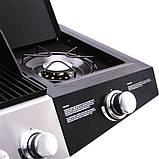 Газовий гриль Broil-master BBQ 21kw 6+1 Black Silver, фото 4