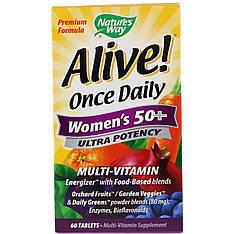 Витамины и минералы для женщин после 50 лет, 60 таблеток Nature's Way Alive