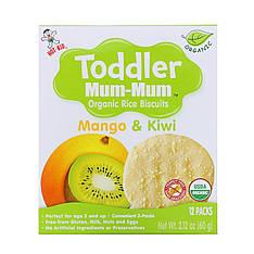 Органічне рисове печиво, манго і ківі, 12 упаковок, 60 г Hot Kid, Toddler Мама-Мама,