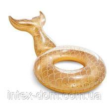 Надувной круг Intex 56258 «Русалочка Золотой блеск» (175 х 119 см )