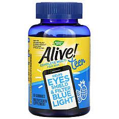 Вітаміни для хлопчиків підлітків 50 желеек Teen Multi for Him nature's Way, Alive!