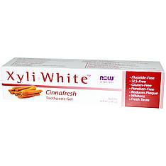 Зубная паста - гель, освежающая с корицей (181 г) Now Foods