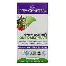 Ежедневная мультивитаминная добавка для женщин, 72 вегетарианских таблетки, New Chapter, Every Woman