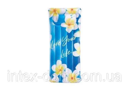 Пляжний надувний матрац Intex 58772 (178 х 84 см) (Квіти)
