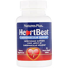 Комплекс для підтримки серцево-судинної системи, 90 таблеток у формі серця nature's Plus, HeartBeat