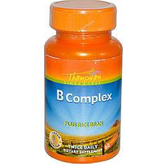 Комплекс витаминов группы B с рисовыми отрубями, 60 таблеток Thompson