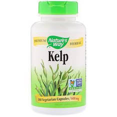 Nature's Way, Келп, 600 мг, 180 капсул вегетаріанських