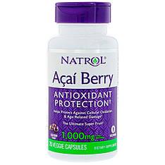 Ягоди асаї, 1000 мг, 75 вегетаріанських капсул, Natrol