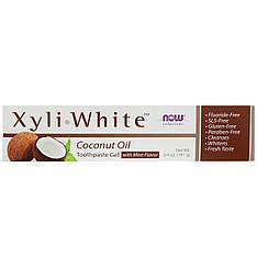 Зубная паста - гель, кокосовое масло со вкусом мяты, 181 г Now Foods, Solutions, XyliWhite