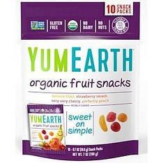 Фруктові снеки органічного походження, оригінальні, 10 пакетів, 19,8 г кожен YumEarth
