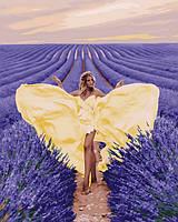 Картина за номерами Чарівність в лавановом поле 40х50 (Без коробки) расскраска за номерами